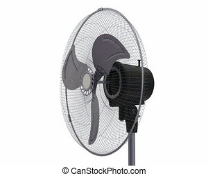 Fan rotates