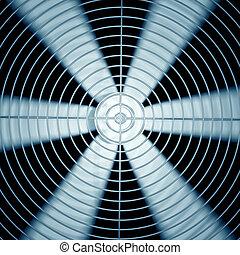 Fan. - Spinning fan closeup.