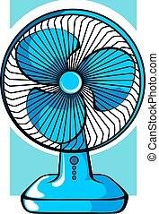Fan - Illustration of table fan arrangement