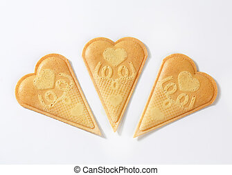 Fan wafer biscuits