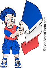 Fan with flag of France