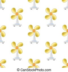 Fan with Orange Blades Seamless Pattern