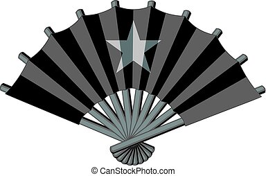Fan with star icon monochrome