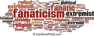 Fanaticism word cloud