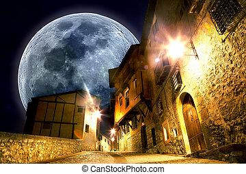 Fancy and fantasyscenery.full moon landscape - Dreamscape...
