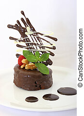 Fancy Chocolate Cake - Personalized gourmet chocolate cake