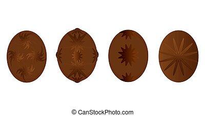 Fancy Chocolate Eggs - Beautful gourmet chocolate eggs...