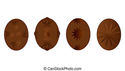 Fancy Chocolate Eggs - Beautful gourmet chocolate eggs...