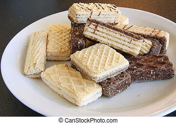 Fancy cookies - Assorted sweet wafer cookies biscuits, fancy...