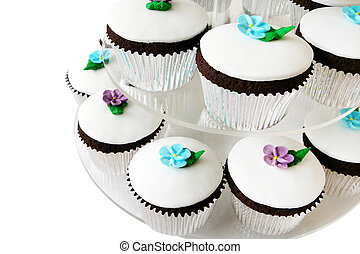 Fancy Cup Cakes - Fancy little cup cakes on a cake stand....