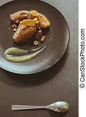 Fancy dessert - caramelized pears