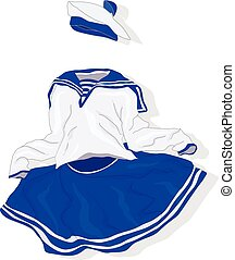 fancy dress vector isolated - fancy dress costume for...