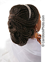 Fancy Female Hair Braid Closeup - African American Female...