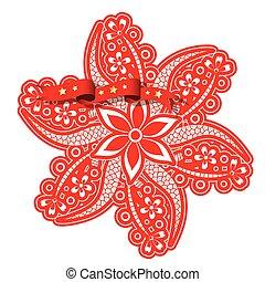 Fancy Floral Design Art