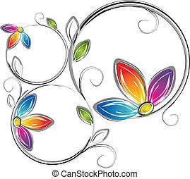 Fancy flower frame