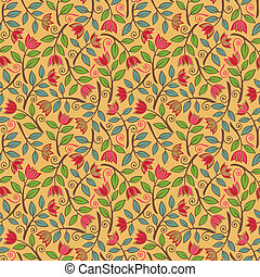 Fancy Flower Pattern Yellow