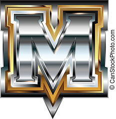 Gold Vector Letter M Clipart Vector Graphics 1 151 Gold Vector