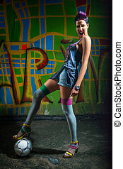 Fancy football girl