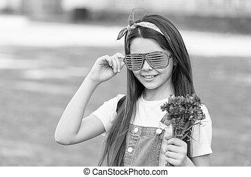 Fancy girl fresh cornflowers bouquet summer season, birthday party concept
