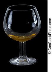 Fancy glass of Scotch on Black