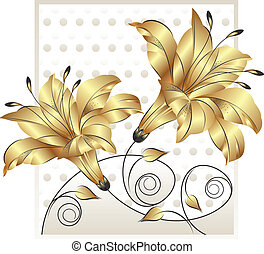 Fancy golden flower design