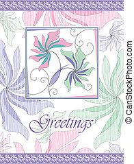 Fancy greeting card design