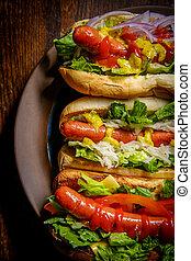 Fancy Grilled Hotdogs