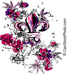fancy heraldic royalty illustration