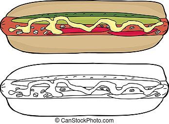 Fancy Hot Dog