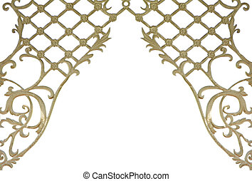 Fancy lattice - Fancy floral lattice frame isolated on white