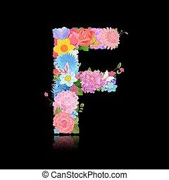 Fancy Font Letter F