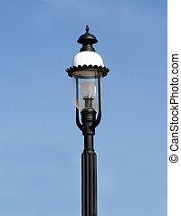 Fancy Light Post against blue sky
