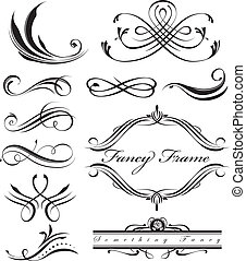 Fancy Lines - Black fancy swirl lines