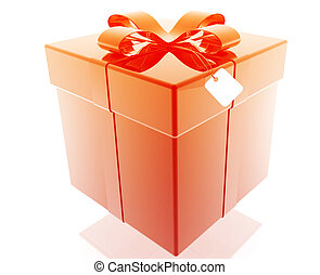 Fancy present - Wrapped fancy present illustration glossy ...