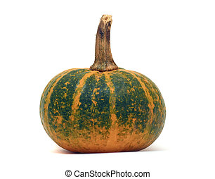 Fancy pumpkin isolated over white
