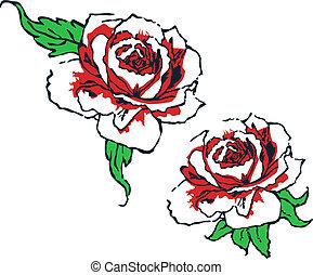 fancy rose tribal design