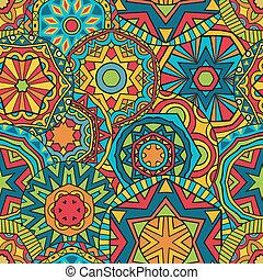Fancy Rounds Ethnic Pattern - Seamless geometric pattern. ...
