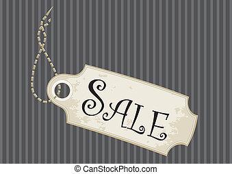 Fancy Sale Tag - Sale tag or swing ticket in a fancy design...