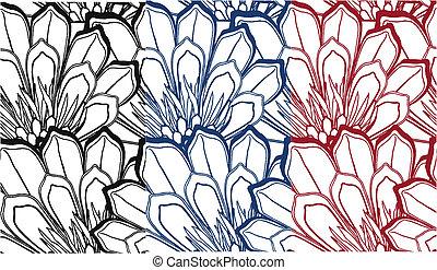fancy seamless flower pattern