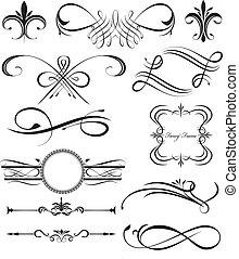 Fancy swirls - Pretty page dividers