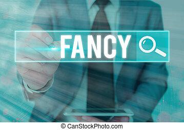 fancy., texto, palabra, superficial, concepto, afición, ...