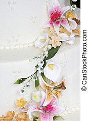 Fancy wedding cake detail
