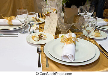 Fancy wedding dinne