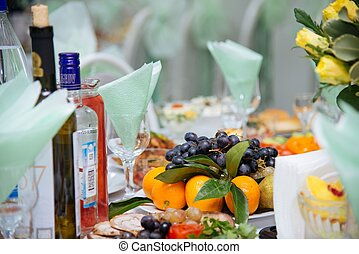 Fancy wedding reception area