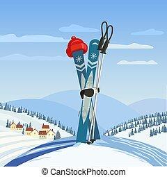 Cool frosty snowman. Two cartoon snowmen having fun in the ...