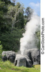 Fang Hot Springs geyser timelapse. Fang Hot Springs is...