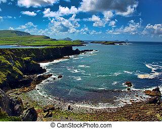 fangen, landschaftlich, ring, irland, kerry