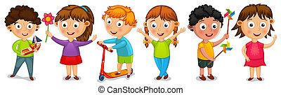 Fanny cartoon kids isolated vector illustration