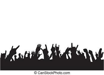 fans , auf, concert