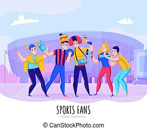 Fans Cheering Team Composition